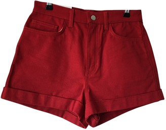American Apparel \N Red Cotton Shorts for Women