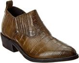 Frye Billy Croc-Embossed Leather Shootie