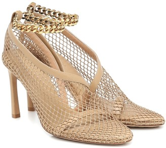 Bottega Veneta Chain-trimmed mesh pumps