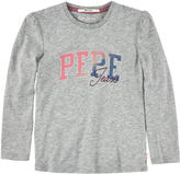 Pepe Jeans Long-sleeved cotton jersey T-shirt with logo