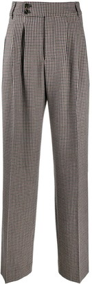 Closed Houndtooth Wide-Lef Trousers