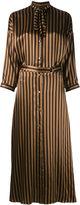 Nina Ricci striped long shirt dress - women - Silk - 36