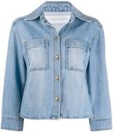 Victoria Victoria Beckham cropped-sleeve denim jacket