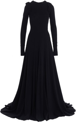 Ann Demeulemeester Padded Shoulder Gown