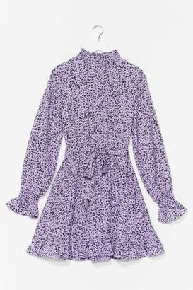 Nasty Gal Womens Flower Down Your Love High Neck Mini Dress - Purple - 14