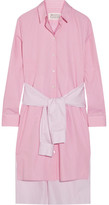 Maison Margiela Tie-front Striped Cotton-poplin Shirt Dress - Baby pink