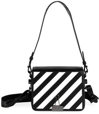 Off-White Off White Diagonal Binder Clip Leather Crossbody Bag