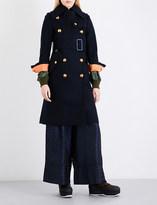 Sacai Shell underlay boiled-wool coat