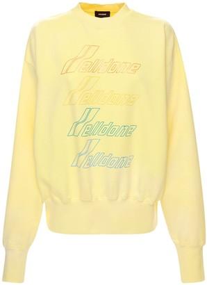 we11done Iridescent Logo Cotton Blend Sweatshirt