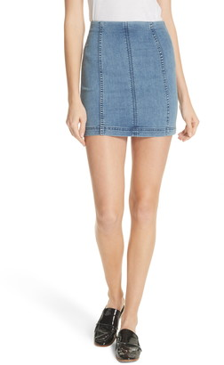 Free People Modern Denim Mini Skirt