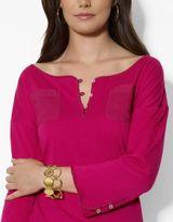 Lauren Ralph Lauren Cotton Scoopneck Top