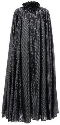 Halpern Ruffled-neck Sequin-embellished Cape - Womens - Grey