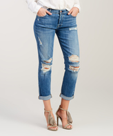 7 For All Mankind Blue Josefina Roll-Cuff Ankle Jeans