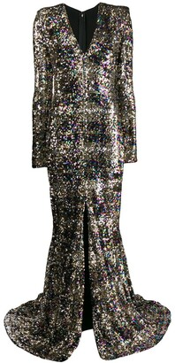 Talbot Runhof Sorot sequined maxi dress