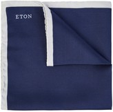 Eton Navy Silk Pocket Square