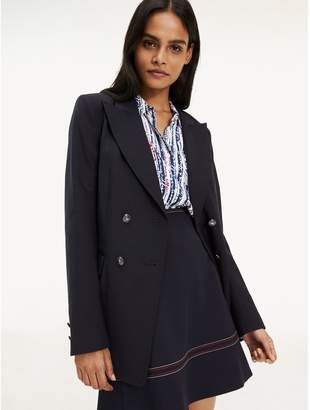 Tommy Hilfiger Double-Breasted Stretch Blazer