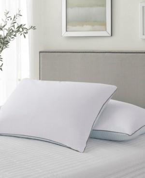 Kathy Ireland Summer-Winter White Goose Feather Pillow 2-Pack Jumbo