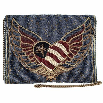Mary Frances Liberty Beaded Crossbody Clutch Handbag