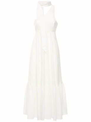 Zimmermann Juliette One Shoulder Linen Maxi Dress