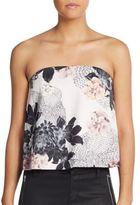 Keepsake Floral-Print Strapless Top