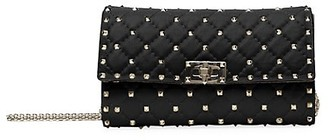 Valentino Rockstud Spike Leather Crossbody Clutch