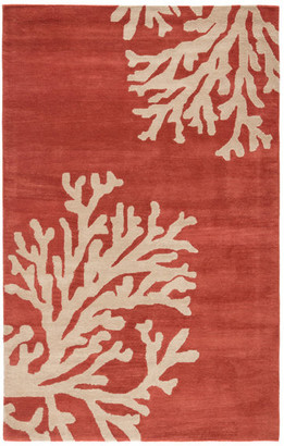 "Jaipur Living Bough Handmade Abstract Coral/Tan Area Rug, 3'6""x5'6"""