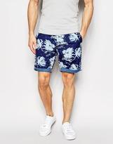 G-star Chino Shorts Bronson All Over Stormy Hawaiian Print - Blue