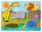 Melissa & Doug ; Zoo Animals Touch and Feel Textured Wooden Puzzle (5 pcs)