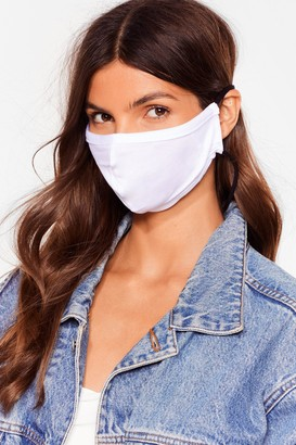 Nasty Gal Womens All Mouth Fashion Face Mask - White