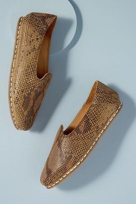 Shoe The Bear Snake-Print Leather Flats