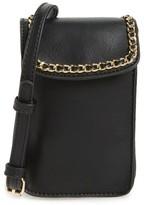 BP Chain Faux Leather Phone Crossbody Bag - Black