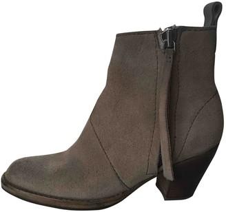 Acne Studios Pistol Beige Suede Ankle boots