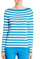 Michael Kors Striped Boatneck Cotton Sweater