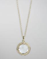 Ippolita 18k Gold Rock Candy Mini Lollipop Diamond Necklace in Clear Quartz