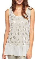 JCPenney Love to Love Babydoll Tunic Blouse