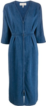 Mara Hoffman deep V-neck denim dress