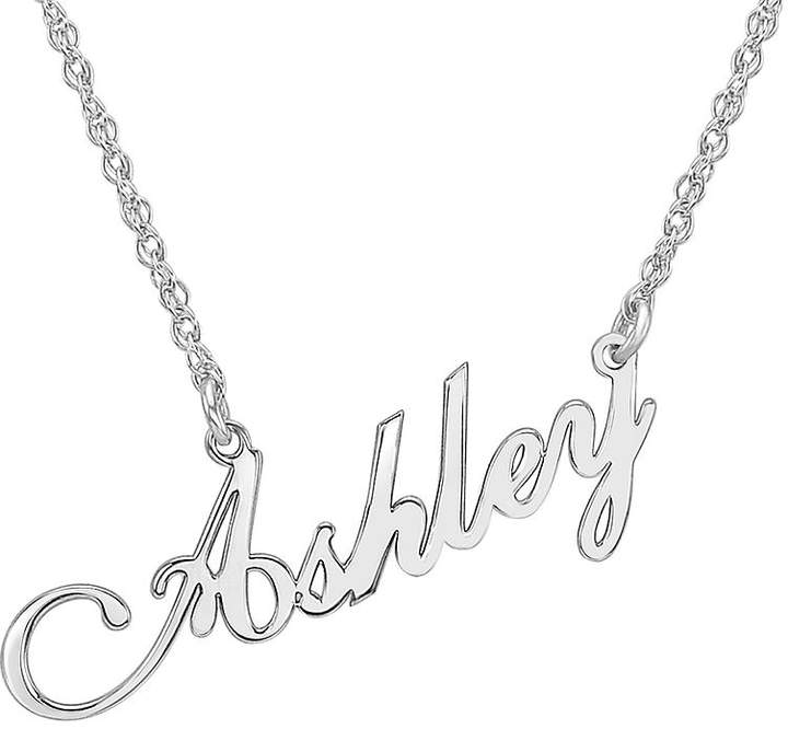 JCPenney FINE JEWELRY Personalized Sterling Silver Script Name Necklace