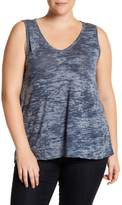 Blu Pepper Burn Out V-Neck Tank (Plus Size)