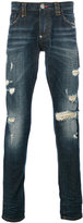 Philipp Plein distressed slim jeans - men - Cotton/Polyester/Spandex/Elastane - 29