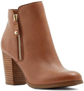 Aldo Women's Casual boots COGNAC - Cognac Naedia Leather Ankle Boot - Women