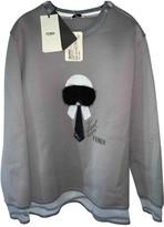 Fendi Grey Cotton Knitwear for Women