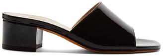 Maryam Nassir Zadeh Black Patent Agatha Slides