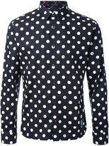 GUILD PRIME polka dots print shirt