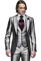MYS Men's Custom Made Groomsman Tuxedo Suit Pants Vest and Tie Set Size 44R