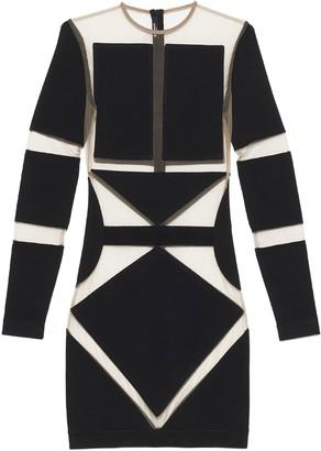 Balmain Sheer Panelled Mini Dress