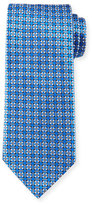 Ermenegildo Zegna Basketweave Geometric-Print Silk Tie
