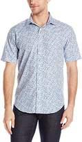 Bugatchi Men's Marsala Short Sleeve Shaped Button Down Shirt
