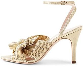 Loeffler Randall Zinnia Pleated Knot Ankle-Strap Heel Sandals