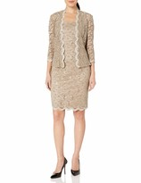 Alex Evenings Women's T-Length All Over Lace Jacket Dress with Sequin Detail