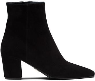 Prada Point-Toe Ankle Boots